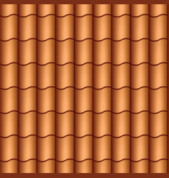 seamless roof tiles vector image