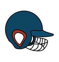 baseball helmet equipment uniform icon vector image vector image