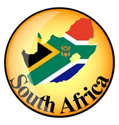 button South Africa vector image