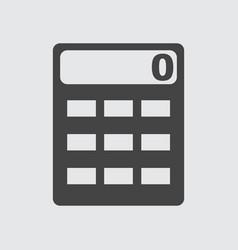 Calculator icon flat vector