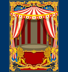 carnival poster frame vector image vector image