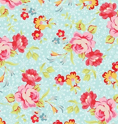 Pattern with roses on a background of snowflakes vector image vector image