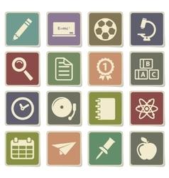 School simply icons vector image