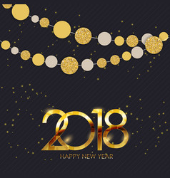 2018 new year and merry christmas background vector