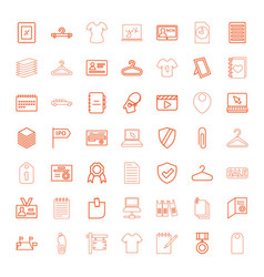 49 blank icons vector image