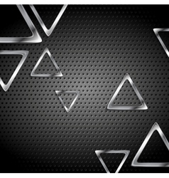 Abstract metal perforated background with metallic vector image