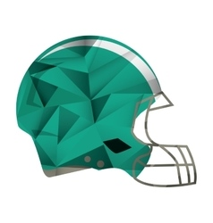 american football helmet protection abstract vector image