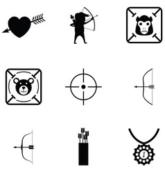 archery icon set vector image
