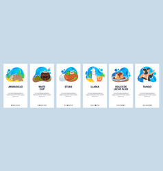 argentina website and mobile app onboarding vector image