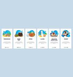 Argentina website and mobile app onboarding vector