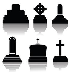 Black gravestones vector