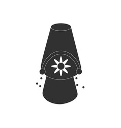 Black icon on white background bucket and sand vector