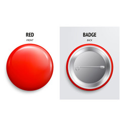 Blank red glossy badge or button vector