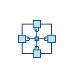 blockchain cryptocurrency concept blue icon vector image