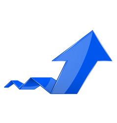 blue up rising arrow vector image