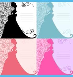 Bride invitation vector