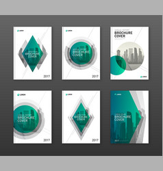 brochure cover design layouts set for business vector image