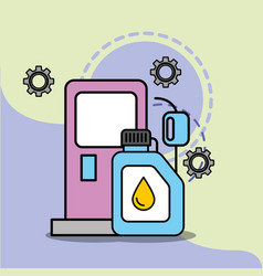 car service maintenance pump gasoline station vector image