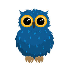 cartoon owl on white vector image