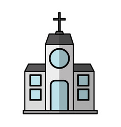 Church building exterior icon vector
