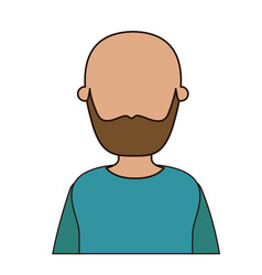 colorful caricature faceless front view half body vector image