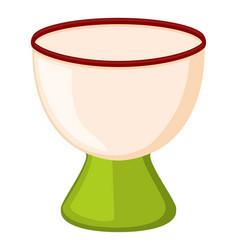 Colorful cartoon empty egg cup vector