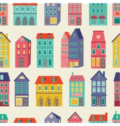 Colorful city pattern vector image