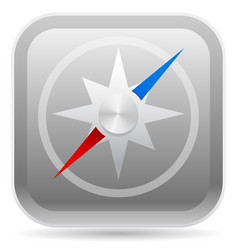 Compass on rounded square icon vector