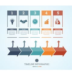 Conceptual Business Timeline Infographic 5 vector