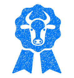 Cow award seal icon grunge watermark vector
