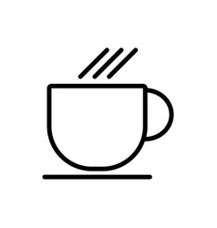 Cup line icon simple minimal 96x96 pictogram vector