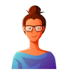 Cute girl in glasses vector