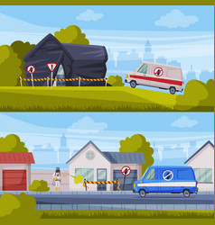 disinfection suburban houses set home pest vector image