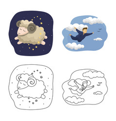 Dreams and night sign vector
