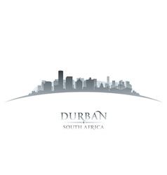 Durban South Africa city skyline silhouette vector