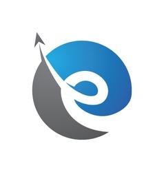 E Logo Template vector image