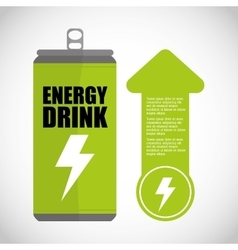 Ecology and energy drink saving care image vector
