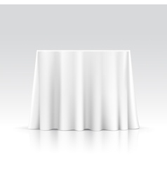 Empty Square Table with Tablecloth vector image
