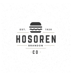 Fast Food Design Element in Vintage Style for vector image