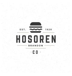 Fast food design element in vintage style vector