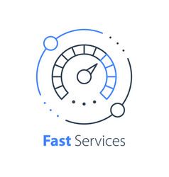 Fast truck delivery distribution services vector