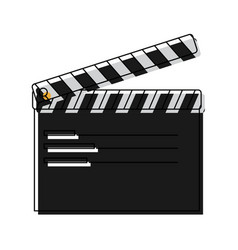 film maker clapper board action icon vector image