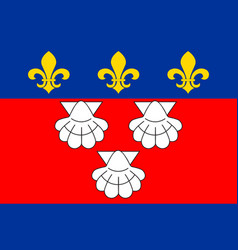 Flag of aurillac in cantal of vector