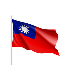 Flag of taiwan sign vector