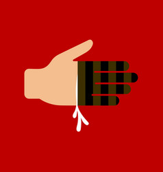 Flat icon stylish background bloody hand vector