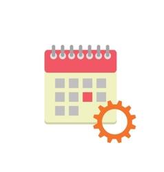 Flat style calendar icon vector image