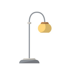 floor lamp isolated icon in flat style vector image