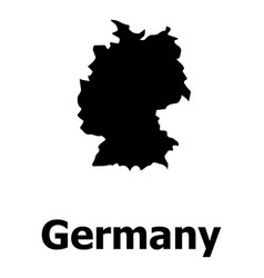 Germany map icon simple style vector