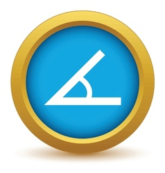 Gold sign of the angle icon vector
