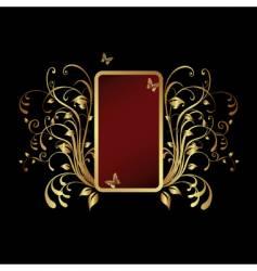 golden frame banner vector image
